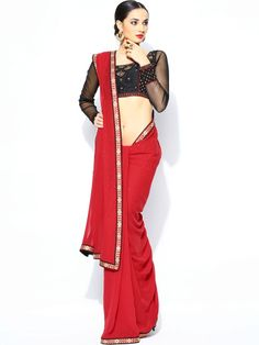 Ritu Kumar Red Bridal Saree