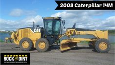 Our Featured Motor Grader is a 2008 #Caterpillar 14M, EROPS, A/C, 16.00x24 Tires @ 50%, 14' Moldboard, Accumulator, Ripper, 4,268 Hrs. We have a great selection of Motor Graders! You can view them all at: http://www.rockanddirt.com/equipment-for-sale/motor-graders #RockandDirt #HeavyEquipment #MotorGraders