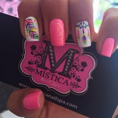 Imagen relacionada Pedicure Nails, Gel Nails, Acrylic Nails, Love Nails, Pretty Nails, Western Nails, Country Nails, Feather Nails, Nails 2018