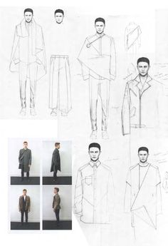 Fashion Sketchbook: Design development, minimalist design & layout approach - Niall Cottrell