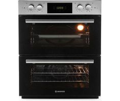 Top 10 latest electric under counter double ovens selected. Stylish steel fully built-under double oven electric appliances in white or black fan assisted. Under Counter Double Oven, Built Under Double Oven, Double Ovens, Stainless Steel Oven, Electrical Appliances, Kitchen Appliances, Cooking, Building, House Appliances