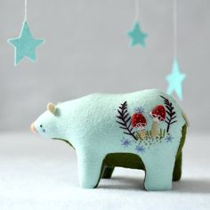 Sweet textile bear created by Mount Royal Mint