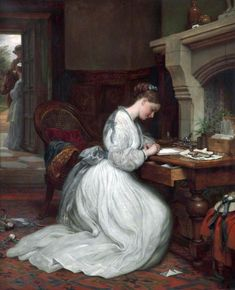 Image result for 19th century painting woman writing