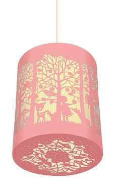 Perfect lamp shade for Olivia's green room