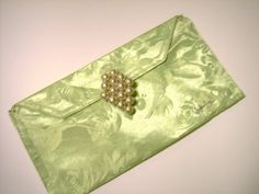 Clutch Purse Lime GREEN Pearl Cluster Pin by JunebugOriginals, $29.75