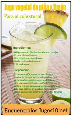 Jugos naturales para el colesterol!! en Jugos10.net