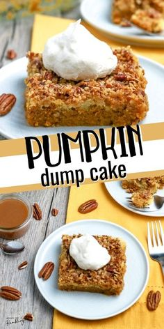 This easy Pumpkin Dump Cake is a family favorite that is great for fall baking. You just dump the ingredients, mix and bake for a simple yet tasty dessert!