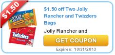 $1.50 off Two Jolly Rancher and Twizzlers Bags