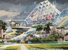 Concept art for Imagination pavilion, EPCOT, 1981