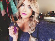 tutorial on these purple lips