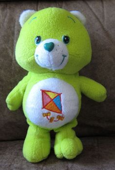 """9"""" Lime #Green DO YOUR BEST Care Bear Stuffed Plush TOY #Kite Luck Clean #CareBear"""
