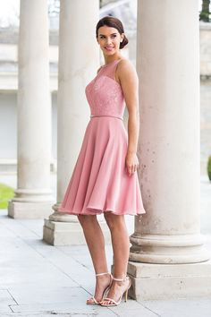 Fabric Lace/Chiffon Dress Dusky Pink Use Lace Colour Card… Bridesmaids, Bridesmaid Dresses, Color Card, Chiffon Dress, Special Day, Wedding Inspiration, Beautiful Women, Formal, Lace