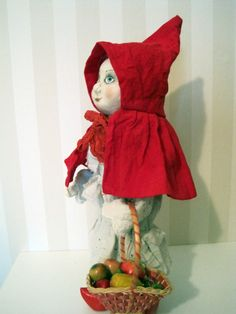 OOAK fantasy doll Little Red Riding Hood art doll
