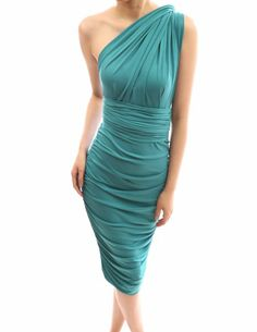 PattyBoutik Unique Convertible V Neck / One Shoulder Ruched Party Evening Dress Infinity Dress Styles, Evening Dresses, Formal Dresses, Pencil Dress, What To Wear, Fashion Dresses, One Shoulder, V Neck, Turquoise