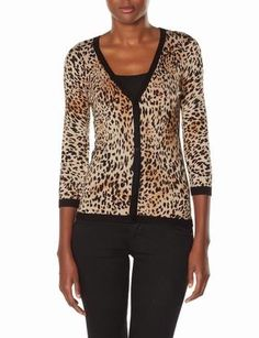 Leopard Print Cardigan | Women's Sweaters | THE LIMITED