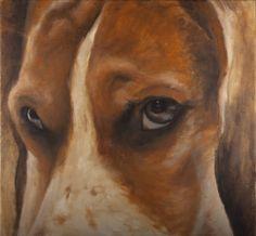 Dog eyes, oilpainting