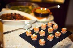 Finger food al salmone e burro salato