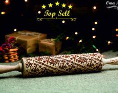 Mattarello goffratura di Natale. Regalo di Natale. Regalo di Natale in legno. Regalo di natale bambini. Buon regalo di Natale modello. Regalo di Natale allegro