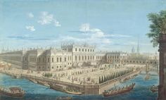 View of the Summer Palace of Empress Elizabeth Petrovna, Russia, 1753, Mikhail Ivanovich Makhayev