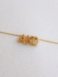 Monogram Necklace // Elizabeth Volk Design