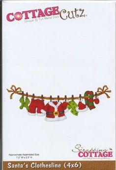 Cottage Cutz Die - Santa\'s Clotheline