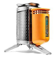 Generador de electricidad con fuego de cocinilla - camping