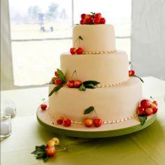 Rainier cherries. Summer Montana wedding by the Yellowstone River . Wedding styled by Katalin Green - Montana Bride . Cake by Cake Creation Bozeman Montana