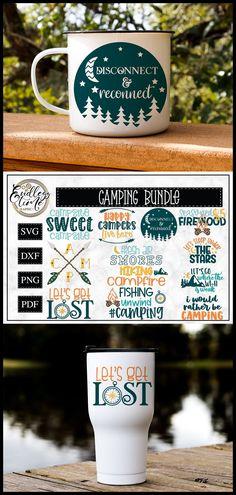 Camping Bundle - An Adventurous Little Bundle Designer Friends, Cute Fonts, Summer Design, Camping Crafts, Product Ideas, Vinyl Crafts, Mom Birthday, Design Crafts, Cricut Ideas