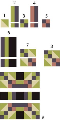 This Way and That, a Quilt Pattern That's Easy to Customize: Game Cocks Quilt Block Pattern, Version B