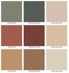 Rijks kleuren deel 2 Rijks kleuren deel 2 - Lilly is Love Colour Pallette, Colour Schemes, Color Trends, Paint Colors For Home, House Colors, Living Room Sets, Living Room Decor, Room Setup, Earth Tones
