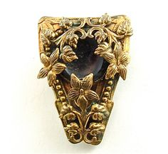 SALE Romantic Dress Clip Vintage Jewelry Ornate by kiamichi7, $28.00