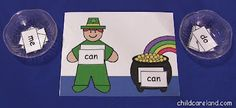Leprechaun Sight Word Match -  Pinned by @PediaStaff – Please Visit http://ht.ly/63sNt for all our pediatric therapy pins
