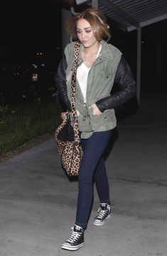Miley Cyrus outfit- NEED this jacket!