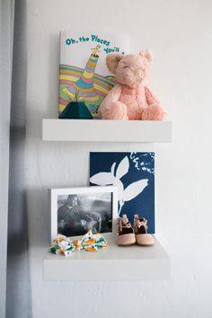 Little nursery shelves for all her treasures