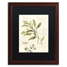 Aromantique IV by Lisa Audit Matted Framed Painting Print