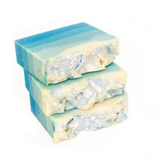 Snowflake Shea Butter Soap - Fresh Snow Handcrafted Cold Process Soap.