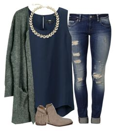 A fashion look from November 2015 by madelynhp featuring Julie Fagerholt Heartmade, Uniqlo, Mavi, Abercrombie & Fitch and Kendra Scott Mode Outfits, Fashion Outfits, Womens Fashion, Fall Winter Outfits, Spring Outfits, Winter Fashion, Mode Jeans, Look Boho, Looks Plus Size