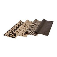 FRAMSTÄLLA gift wrap, roll, assorted patterns black Length: 9.84 ' Width: 2.26 ' Length: 3 m Width: 69 cm