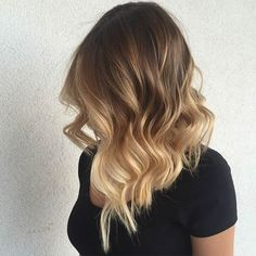 Wavy Long Bob + Blonde Balayage