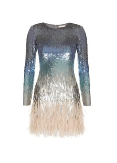 matthew williamson Ombre Sequin Mini Dress