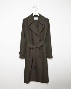 T BY ALEXANDER WANG | Twill Trench Coat | Shop at La Garçonne