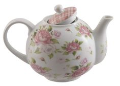 Gingham Rose Discount Porcelain Teapot