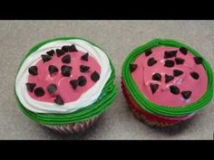 Decorating Cupcakes #55: Watermelon