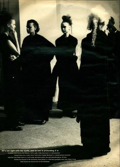 And no one is pretending. Comme des Garçons Noir by Rei Kawakubo in Interview, June 1992.