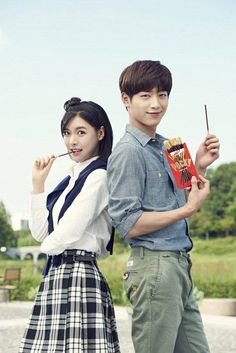 Seo Kang Jun and Alice are a cute campus couple for 'Pocky' | allkpop