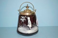 victorian amethyst glassware | Gregory amethyst glass biscuit barrel - English - Victorian - Glass ...