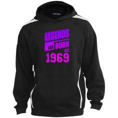 3252ee2a4 LEGENDS ARE BORN IN 1969 17 ST265 Sport-Tek Sleeve Stripe Sweatshirt with  Jersey Lined Hood