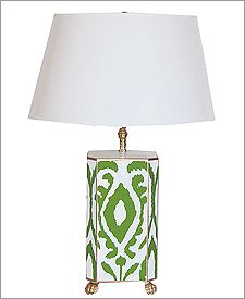Dana Gibson Green Ikat Lamp...want this for master bedroom love it!