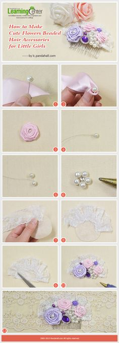 Cute Flowers Beaded Hair Accessories