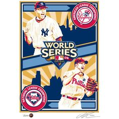 Display your New York Yankees pride with this Sports Propaganda Serigraph print! It is designed to embody the greatness of your team. It is scaled to fit perfectly in your office or room. Propaganda Art, Philadelphia Phillies, World Series, New York Yankees, Baseball Cap, Mlb, Sports, Pride, Display